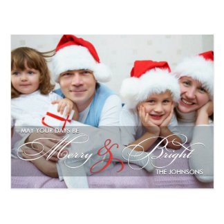 Merry and Bright Holiday Post Cards