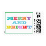 MERRY and BRIGHT Holiday Postage