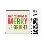 Merry and Bright Holiday Postage Stamps
