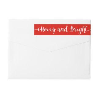 Merry and Bright | Holiday Return Address Labels Wraparound Return Address Label