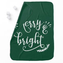 merry and bright Holiday Stroller Blanket
