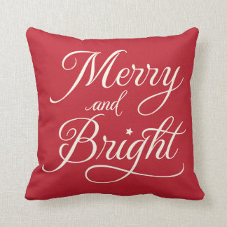 Merry and Bright | Holiday Throw Pillow
