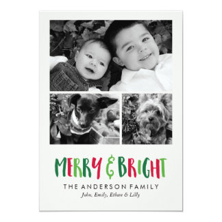 Merry and Bright Holidays Card