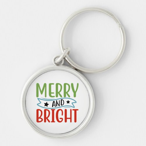 Merry And Bright Keychain
