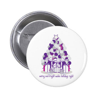Merry And Bright Makes Holidays Button