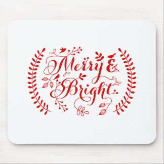 Merry and Bright, Merry Christmas Mouse Pad