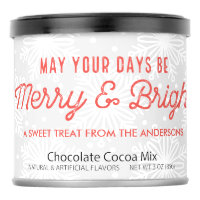 Merry and Bright Neighbor Hostess Gift Hot Chocolate Drink Mix
