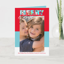 Merry And Bright Personalized Photo Card