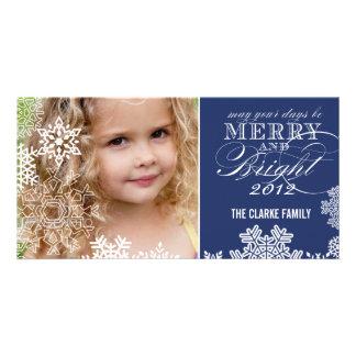 MERRY AND BRIGHT PHOTO CARD   DARK BLUE