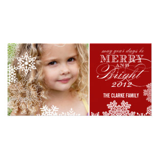 MERRY AND BRIGHT PHOTO CARD | RED