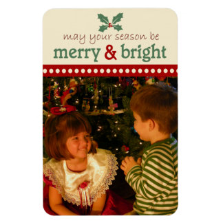 Merry and Bright Photo Flexi Magnet