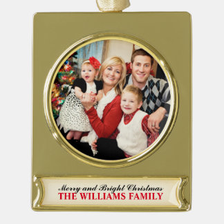 Merry and Bright Photo Ornament   Personalized