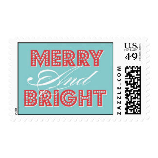 Merry and Bright Postage
