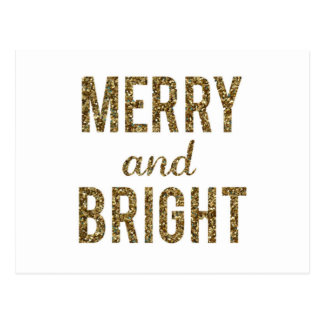 Merry and Bright Postcard