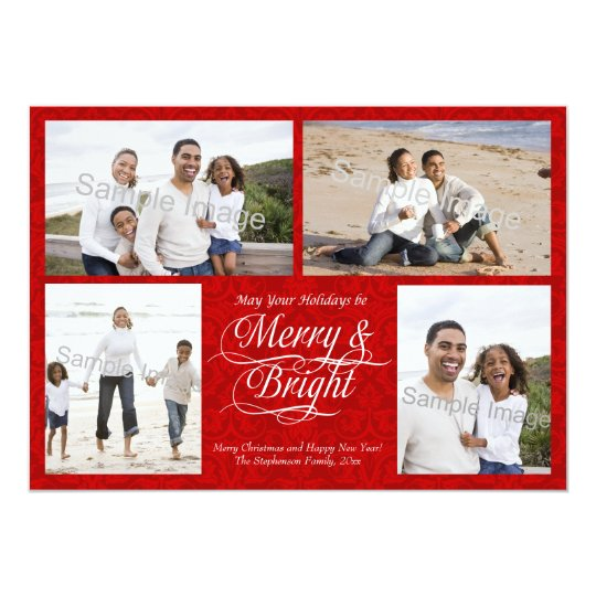 Merry and Bright, Red Damask Card