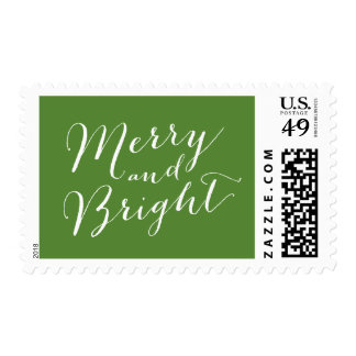 MERRY AND BRIGHT  SCRIPT | HOLIDAY POSTAGE