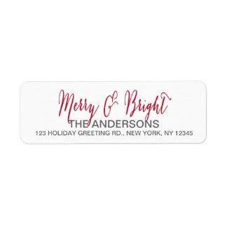 Merry and Bright Script Label