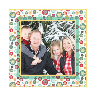 Merry and Bright Snowflake Photo Frame Canvas Print