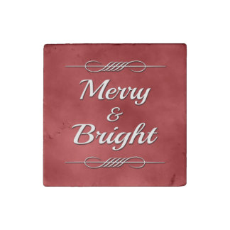 Merry and Bright Stone Magnet