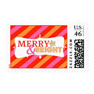 Merry and Bright Stripes 1 Stamps
