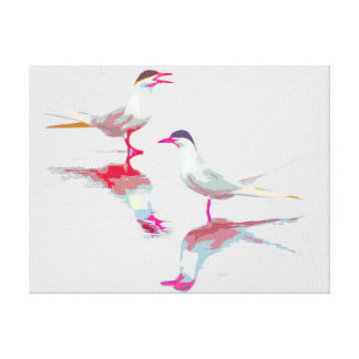 Merry and Bright Terns Canvas Print