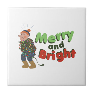 Merry and Bright Small Square Tile