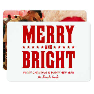 Merry and Bright with Custom Photo Groupon Card