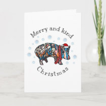 Merry and Kind Christmas Holiday Card