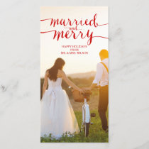 MERRY AND MARRIED | HOLIDAY PHOTO CARD