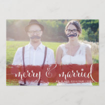 Merry and Married | Snowflakes Holiday Photo Card