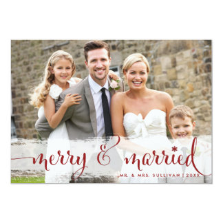 Merry and Married | Snowflakes Holiday Photo Card Invites