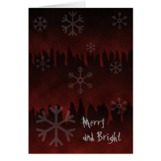 Merry and Not So Bright Goth Holiday Card
