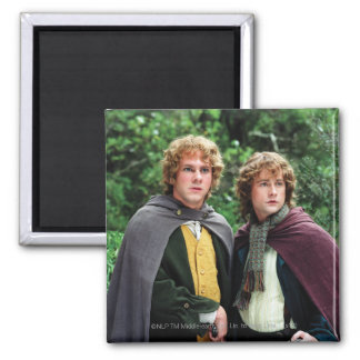 Merry and Peregrin 2 Inch Square Magnet