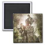 Merry and Peregrin on Treebeard 2 Inch Square Magnet