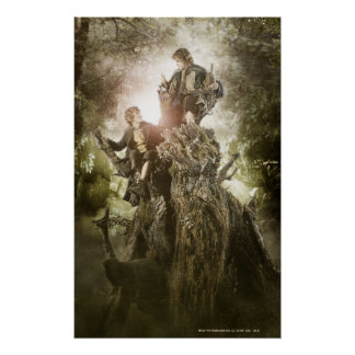 Merry and Peregrin on Treebeard Poster