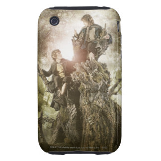 Merry and Peregrin on Treebeard Tough iPhone 3 Case