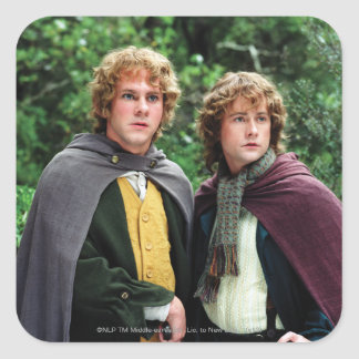 Merry and Peregrin Square Sticker
