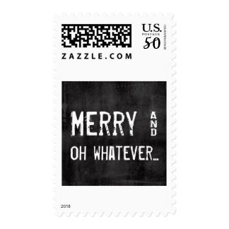 Merry and Whatever Funny Christmas Postage Stamps