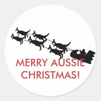 Merry Aussie Christmas Sticker