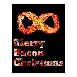 Merry Bacon Christmas Postcards