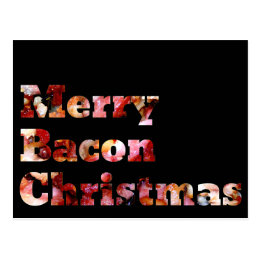 Merry Bacon Christmas Postcard