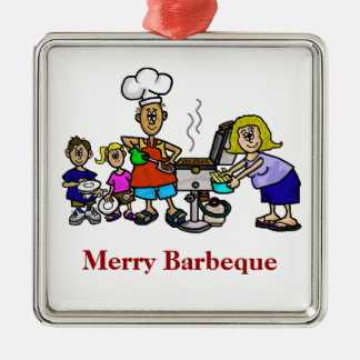 Merry Barbeque Family Christmas - Kitchen Ornament