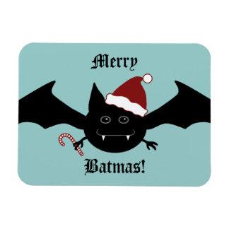 Merry Batmas silly gothic bat Rectangular Photo Magnet