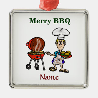 Merry BBQ Chef Christmas Ornament Customize It!