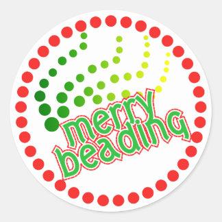 Merry Beading Classic Round Sticker