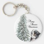 Merry Berner Christmas Key Chain