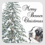 Merry Berner Christmas Stickers