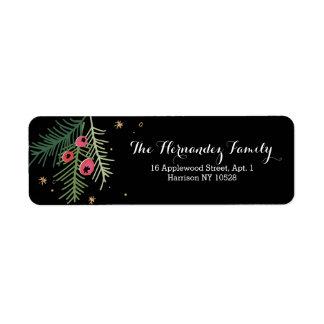 Merry Berry Black Address Label
