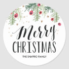 Merry Berry Collection Classic Round Sticker