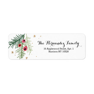 Merry Berry Collection Label at Zazzle